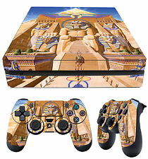 PS4 slim aderente Iron Maiden Powerslave COPERTINA ALBUM EDDIE + tappetino
