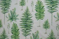 "SANDERSON CURTAIN FABRIC DESIGN ""Fernery"" 3.15 METRE BOTANICAL GREEN 100% COTTON"
