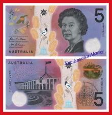 AUSTRALIA 5 Dollars dolares 2016 Polymer  Pick NEW DESIGN  SC / UNC