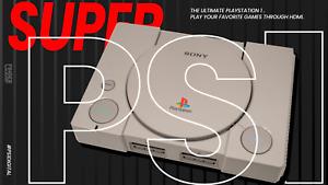 "SUPER PS1 ""Grey/Factory"" - HDMI SONY PLAYSTATION 1 - PS1DIGITAL AND XSTATION PS1"