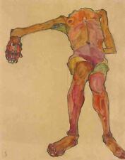 Egon Schiele Seated Male Nude Canvas Print 16 x 20        #3483