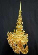 CHADA Women Ram-Thai Handmade Headdress Crystal Crown Dancer Costume Art New
