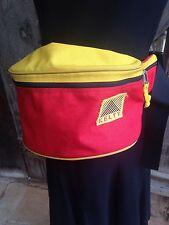 Vtg 80s KELTY Fanny Hip Pack 3 Pockets XL Travel Red Waist Belt Buckle Zip Bag