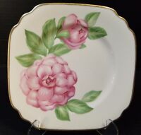 """Onondaga Pottery Syracuse China """"The Camellia"""" Floral Plate 8"""" Excellent"""