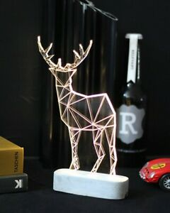 Ausgefallene Tischlampe im Rentier Design - groß - Hirsch Weihnachten Lampe Weih