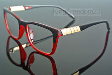 Luxury Design Square Eyeglass Frame Black Red Transpare Spectacles Glasses Rx