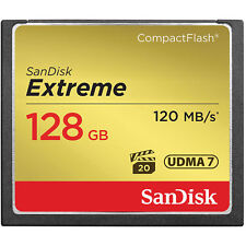 SanDisk Extreme 128GB CompactFlash Memory Card (120MB/s) USA Authorized Dealer