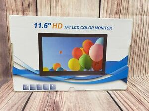 """11.6"""" inch HD TFT LCD Color HDMI Monitor Screen Video with Remote Control"""
