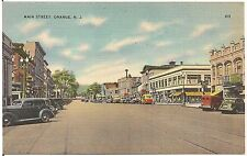View on Main Street in Orange NJ Postcard