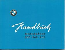 BMW Handbuch / Betriebsanleitung / Bordbuch R 50, 60, 69 / R50 R60 R69 neu