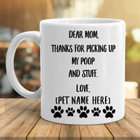 Personalized Mothers Day Gifts For Dog Mom Coffee Mug Custom Name White Cup 11oz