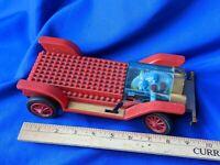 Vintage Kawada Chasis 1907 Battery Op Model Toy Car Blocks Red Rare