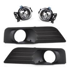 Front Lower Left Right Bumper Fog Light Lamp+Grille Kit Set for 05-07 Ford Focus