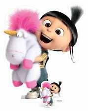 Agnes & Fluffy Unicorn Despicable Me 3 Minions Lifesize & Mini Cardboard Cutout