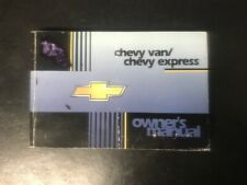 Manuale uso Owner's Manual Chevy van - Express Chevrolet Express GM