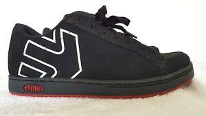 ETNIES Mens Designer Black Faux Suede Low Top Sneakers size 12 NWOT
