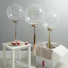 """1pc 10""""-36"""" Transparent Clear Balloons Birthday Wedding Party Decor NO Wrinkle"""