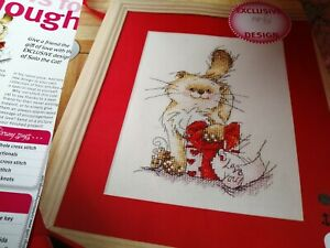 CROSS STITCH CHART MERRY SOLO THE CAT LOVE YOU   CHART