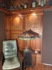 New listing Handel gigantic palm table lamp, mission arts and crafts