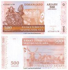 MADAGASCAR 500 Ariary (2,500 Franchi) 2004 P-88 BANCONOTE UNC