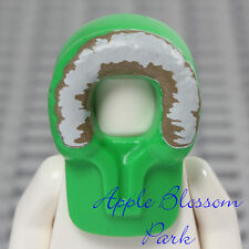 NEW Lego Minifig Winter PARKA HOOD Boy Girl Green Coat Hat w/White Fur Head Gear
