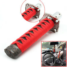 Car Gear Shift Knob Shifter JDM Red & Black Metal Samurai Sword 12mm Hole Katana
