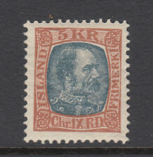 Iceland Sc 44B Christian IX 5 kr VF Mint Hinged