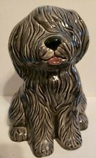 "Large Ceramic English Sheepdog Over 8"" Tall Vintage"