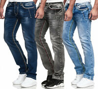 Jeanshose Jeans Herrenjeans Straight Cut Regular Fit Pants Hose Herren
