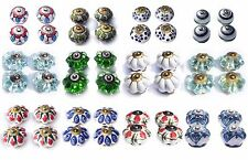 Ceramic Knobs Glass Pulls Handles for door drawer Cabinets Cupboard Wardrobe x 4
