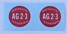 MARZOCCHI AG23 REAR SHOCK DECALS PAIR