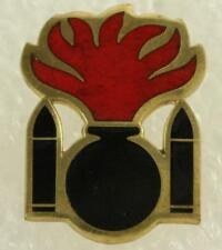 VINTAGE US Military DUI Unit Crest Pin Army 101st Ordnance Battalion Red Flame