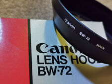 ORIGINAL BW72  lens hood: For Canon FD 24mm f1.4 L = genuine  BW-72 Hood *BOXED*