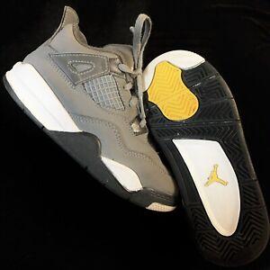 Nike Air Jordan 4 Retro Cool Grey [BQ7670-007] Toddler Size 10c Bred Oreo Cement