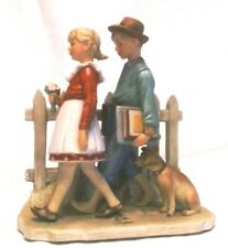 Norman Rockwell Fall- A Scholarly Pace Figurine, 1949 Illustration, Gorham Usa