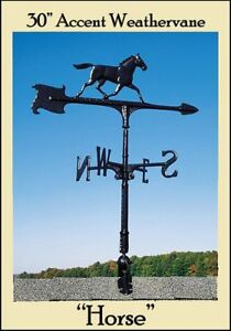 """Whitehall 30"""" Horse Weathervane Accent Weathervane w/Roof Mount Ships Fast!"""