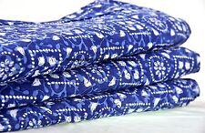 Indian Apparel Floral Sanganer Material 10 Yard Cotton Fabric Dressmaking Sewing