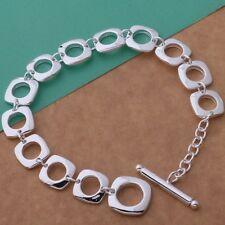 Bracelet T- Bar Chain Linked 925 Sterling Silver Juicy Genuine Gift Bag Woman's