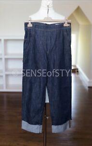 Brunello Cucinelli Denim Pants Jeans Wide Leg monili Trim Size IT38 XS
