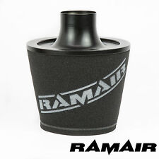 RAMAIR BLACK UNIVERSAL VELOCITY STACK INTAKE CONE AIR FILTER 70MM OD NECK