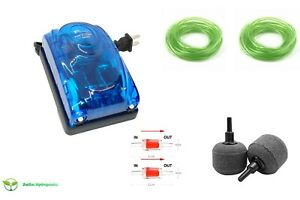 Air pump for Hydroponics, 2 Outlets,127 GPH,480 L/H, 5 Watt, Adjustable Airflow