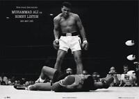 Muhammad Ali XXL Poster, historischer Boxkampf, Boxen Sport Plakat 140 x 100 cm