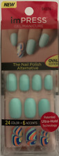 imPRESS 30 press on false nails in mint green & alternative feature nails 64274