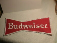 BUDWEISER BUD BREWERY BEER CAN DRINKING TAVERN RED BOW TIE SHAPED BIG PATCH #38