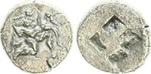 Ca. 510 V. Chr Antico Grecia Dracma Thasos Sileno Raubt Ninfa BB