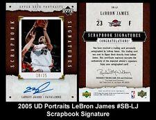 Lot of 25 2005 UD Portraits LeBron James #SB-LJ Scrapbook Signature AUTO REPRINT