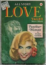 ~ALL-STORY LOVE TALES - VINTAGE ROMANCE SPICY PULP~Nov.1, 1939 Panther Woman!