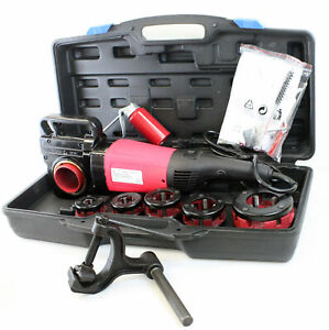 "2000W 1/2- 2"" Portable Electric Pipe Threading Threader 6 Sized Dies"