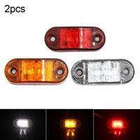 GI- 2Pcs 12V 2LED Truck Side Marker Lights Clearance Lamp Trailer Indicator Effi