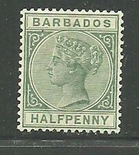 Album Treasures Barbados Scott # 60  1/2p  Victoria  Mint Hinged